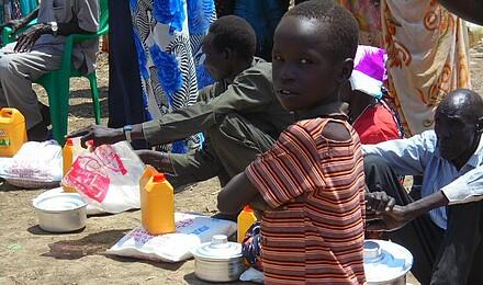 Verteilung der Hilfsgüter