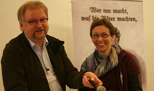 Joachim Gnep und Claudia Sokolis