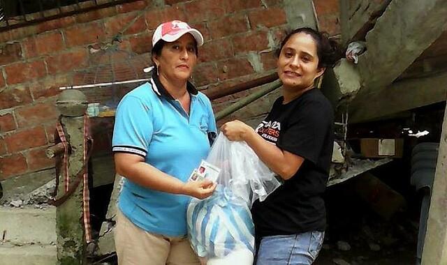 Ecuador: Lebensmittelverteilung