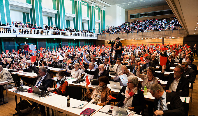 Bundesrat 2015 Blick in den Saal bei Abstimmung