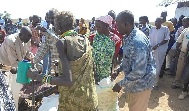 Südsudan: Lebensmittelverteilung