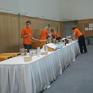 Vorbereitung auf die Mittagspause